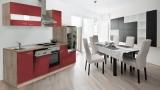 Küchenblock 280 Bordeauxrot Eiche LBKB280ESR