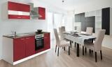 respekta Küchenzeile KB210WR rot ohne Kühlschrank