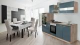 Küchenblock 270 Grau Eiche LBKB270ESG