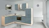 respekta L Küchenzeile RP260AGC 260x200 cm akazie grau Hochglanz