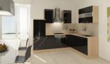 respekta L Küchenzeile RP260ASCOS 260x200 cm akazie schwarz Hoch