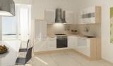 respekta L Küchenzeile RP260AWCOS 260x200 cm akazie Hochglanz