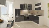 respekta L Küchenzeile RP260WGCOS 260x200 cm weiss grau Hochglan