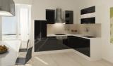 respekta L Küchenzeile RP260WSCOS 260x200 cm weiss schwarz Hochg