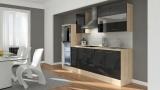 Küchenblock RP270HAS schwarz hochglanz