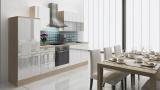 respekta Küchenzeile RP280AWC 280 cm akazie weiss Hochglanz