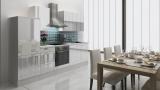 respekta Küchenzeile RP280WWC 280 cm  weiss Hochglanz