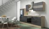 Küchenblock RP300AGC akazie grau hochglanz