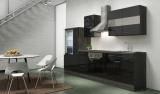 Küchenblock RP300ESC eiche schwarz hochglanz