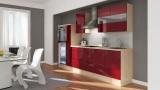 Küchenblock RP300HABO akazie bordeaux rot hochglanz
