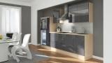 Küchenblock RP300HAG akazie grau hochglanz