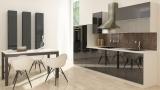 respekta Küchenzeile RP310HWS 310 cm weiss schwarz Hochglanz