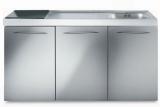 Miniküche MPES 150 Glaskochfeld Kühlschrank